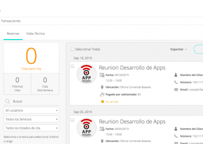 CMS App - Reservas