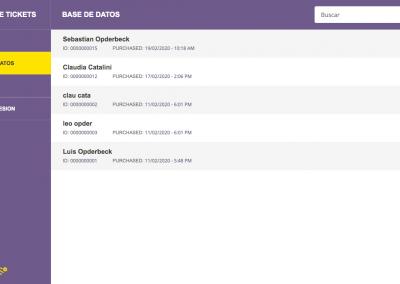 Registro de Tickets - Base de Datos